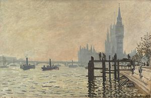 Die Themse unter Westminster, Claude Monet