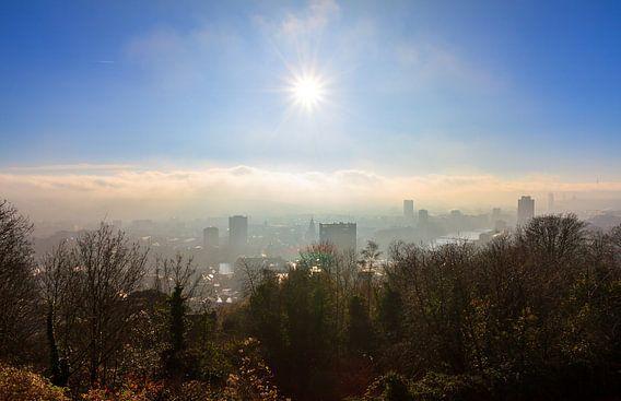 Zonsopkomst skyline Luik