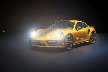 Porsche 911 Carrera mit Scheinwerfern von Gert Hilbink