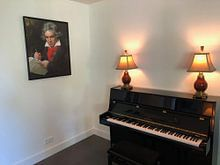Klantfoto: Portret van Ludwig van Beethoven, Karl Joseph Stieler van Meesterlijcke Meesters