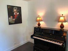 Kundenfoto: Porträt von Ludwig van Beethoven, Karl Joseph Stieler von Meesterlijcke Meesters