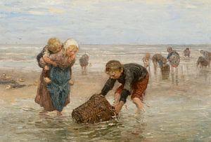 De garnalenvangst van de visserskinderen, Bernardus Johannes Blommers