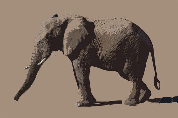 Afrikaanse olifant van opzij