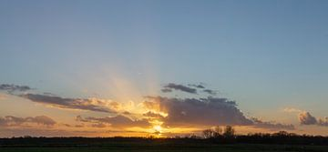 Kortenhoef zonsondergang Groenewoud, Wijdemeren, Netherlands van Martin Stevens