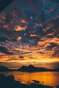 Zonsondergang in Rio de Janeiro van Stephan de Haas