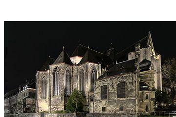 L'église Saint-Michel la nuit, Gand