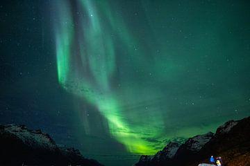 Noorderlicht in Noorwegen van Jurjen Huisman