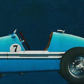 Gordini Grand Prix Nahaufnahme von Jan Keteleer