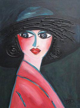 Margot mit dem Hut von Danielle Ducheine