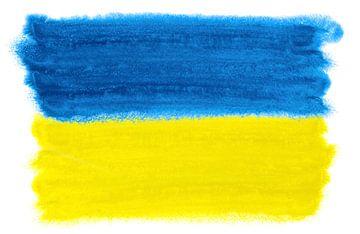 Symbolische nationale vlag van Oekraïne van Achim Prill