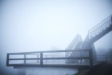 trap in de mist in de Vietnamese heuvels van Karel Ham