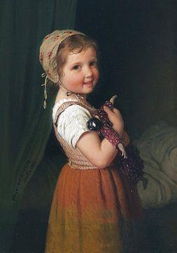 Gute Nacht (Mädchen mit Puppe), JOHANN GEORG MEYER VON BREMEN, 1875