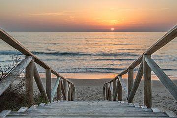 Sonnenuntergang  - Costa de la Luz von Uwe Merkel