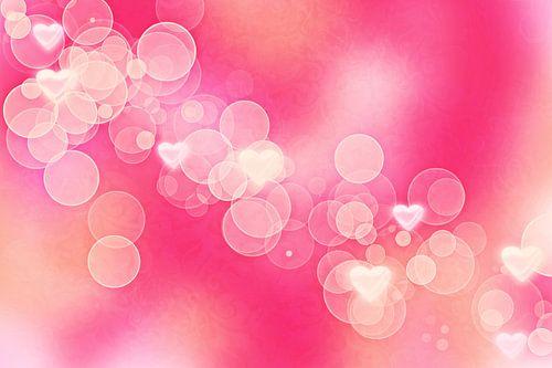 Bokeh romantic background pink van