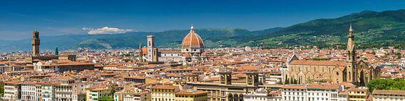 FLORENCE View from Piazzale Michelangelo | Panoramic van Melanie Viola