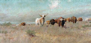Frank Reaugh, Die herannahende Herde - 1902