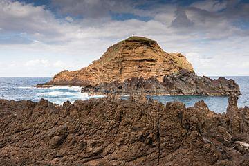 grote rots voor Porto Moniz madeira van Compuinfoto .