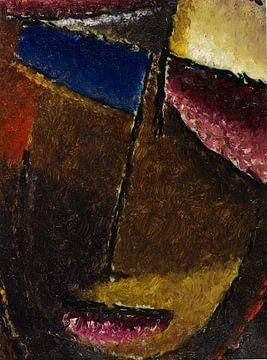 Klein abstract hoofd, Alexej von Jawlensky, 1934 van Atelier Liesjes
