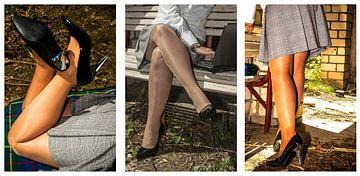 Collage: hübsche Beine von Norbert Sülzner