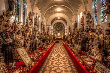 Heiligenbeelden in Museum Vaals  van John Kreukniet