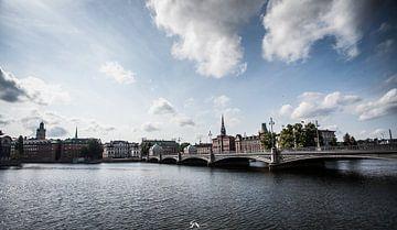 Uitzicht op Gamla Stan, Stockholm van Sebastiaan Aaldering