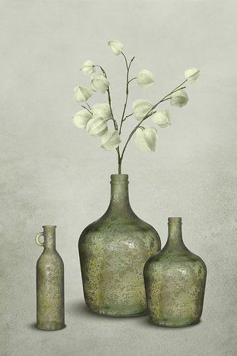Groen grijs in glas (gezien bij vtwonen)