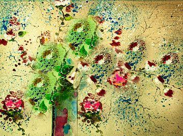 Buschrosen in Vase von Klaus Heidecker