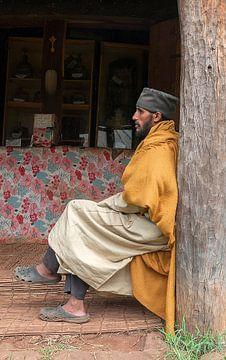 Ethiopië: Priester Ura Kidane Mehret (Zege peninsul) van Maarten Verhees