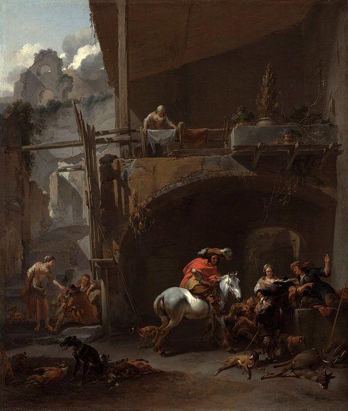 The Return from the Hunt, Nicolaes Pieterszoon Berchem von Meesterlijcke Meesters