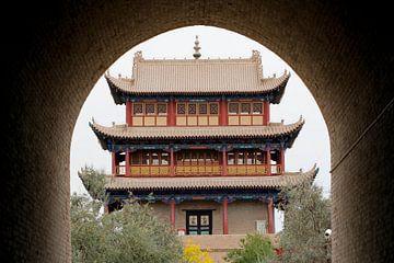 Fort van Jiayuguan, China von Simon Hazenberg