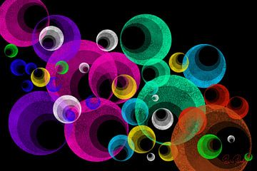 Abstracte kunst - Disco van Patricia Piotrak
