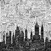 New York Doodle von Nele VdM Miniaturansicht