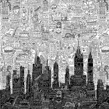New York Doodle von Nele VdM