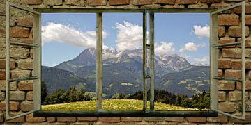 Raam uitzicht - Hochkoenig van Christine Nöhmeier