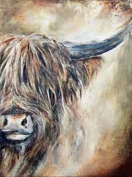 schotse hooglander ( scottisch highlander) van Els Fonteine