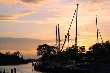 Friese zonsondergang van Jessica van den Heuvel