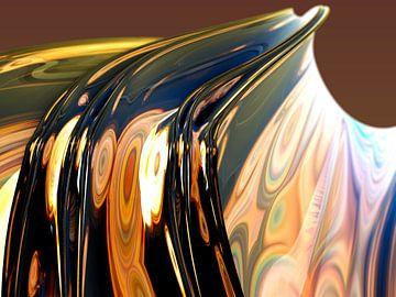 Reflectie van concentrische ringen van Frank Heinz