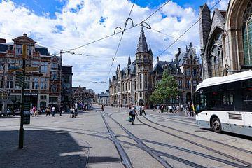 Gent straatbeeld van Frans Kruijf