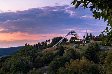 Abendstimmung an der St. Georg Skisprungschanze in Winterberg