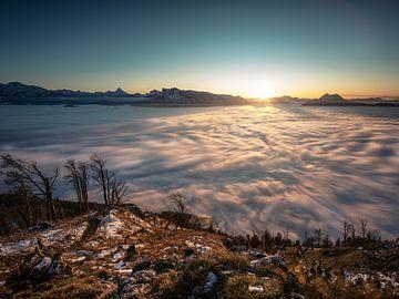 Salzburg onder een misthoes van Thomas Weber