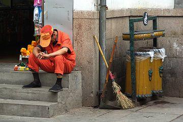 Streetlife in Nanjing von Monique Dijkgraaf