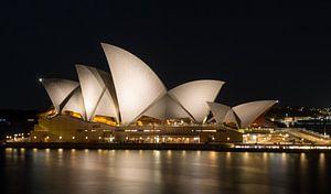Sydney Opera House in de avond, Australie