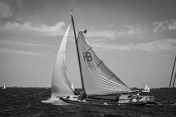 Skûtsje in met reef van Gerrit Harmen