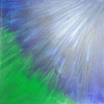 Blauw licht van Polina Zueva