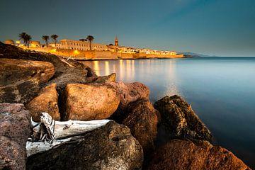 Nachtlicht in Alghero - Sardinië sur Damien Franscoise