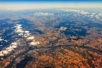 Frankfurt vanuit de lucht von Dennis van de Water