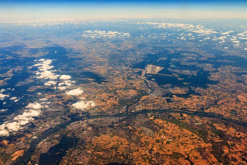 Frankfurt vanuit de lucht van Dennis van de Water