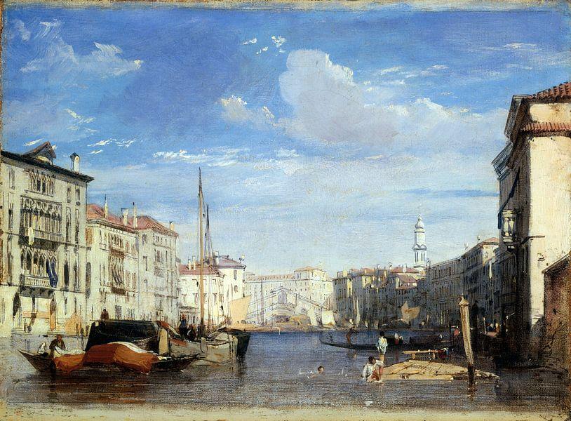 Canal Grande, De Grand Canal, Venetie, Richard Parkes Bonington