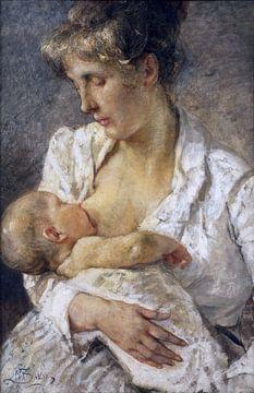 Mutterschaft, Mosè Bianchi - 1899 von Atelier Liesjes