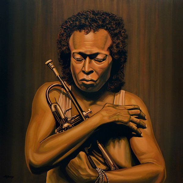 Miles Davis Schilderij van Paul Meijering